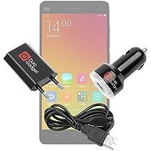 DURAGADGET Kit De Cargadores Para Xiaomi MI 4 / 4i / Note / Note Pro / Redmi Note 2 / Mi2a / Hongmi 1s - Cable microUSB + Cargador Europeo De Red + Cargador Coche