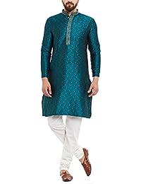 Sojanya Men's Silk Kurta and Pyjama
