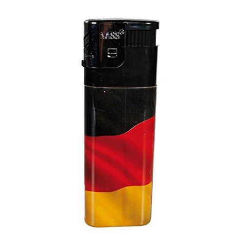 Preis am Stiel 2x XXL-Elektro-Feuerzeug ''Deutschlandflagge'' - Flagge | Fanartikel | Geschenk für...
