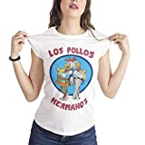 T-Shirt Donna Los Pollos Hermanos Breaking Bad - Donna-S-Bianca