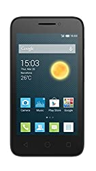 Alcatel Onetouch Pixi 3 Smartphone (10 cm (4 Zoll), 3 Megapixel Kamera, Dual Core, 1GHz) schwarz