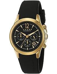 Cross CR8011-04 - Reloj cronógrafo de cuarzo para hombre, correa de silicona color negro