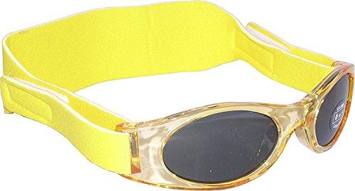 Sonnenbrille für Babys unter 2 Jahren - Sunnyz - Mit Kopfband! (gelb)