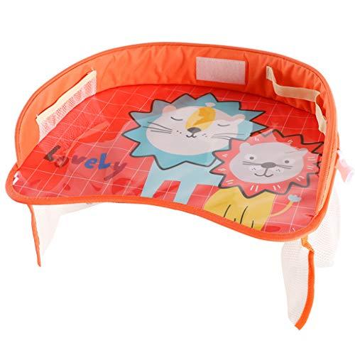 Centitenk Kids Travel Tray, wasserdichte Auto-Sicherheits-Sitz Aktivität Tray Organizer Stroller Tabelle mit Taschen für Snack Spielen Lernen Zeichnung