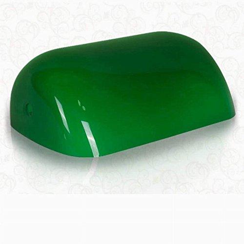 Glas-schirm-ersatz Grüne (Newrays Ersatz-Grün-Glas-Banker-Lampe Schirm-Abdeckung für Schreibtisch-Lampe)