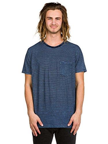 Herren T-Shirt RVCA Ptc Indigo Stripe T-Shirt Deep Indigo