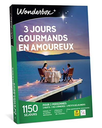 Wonderbox - Coffret cadeau pour noel - 3 JOURS GOURMANDS EN AMOUREUX - séjours...