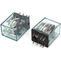 2 piezas de bobina 5A 8 Pin relé electromagnético Claro DC 28V