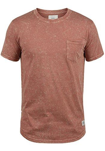 Redefined Rebel Myles Herren T-Shirt Kurzarm Shirt Mit Rundhalsausschnitt Aus 100% Baumwolle, Größe:M, Farbe:Rust