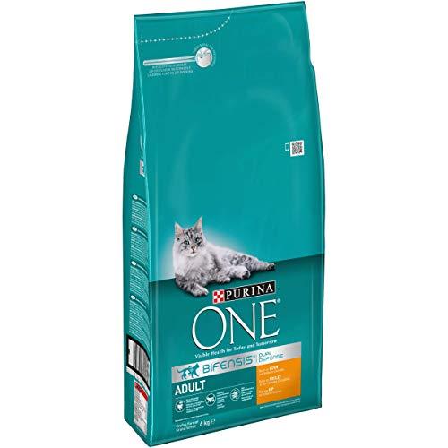 One Bifensis Adult mit Huhn und Vollkorn-Getreide, Trockenfutter für Katzen, 6kg Sack