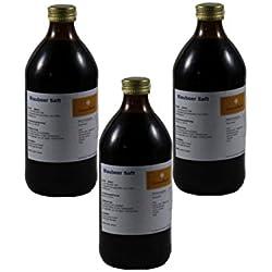 Blaubeer/Heidelbeer Saft, 3 x 500ml Glasflasche