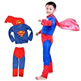 #1: Theme My Party Superman superhero Fancy dress costume for kids (6-8 Years)