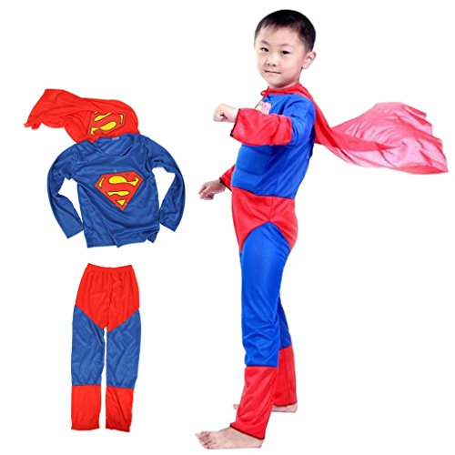 Theme My Party Superman superhero Fancy dress costume for kids (3-5 Years)