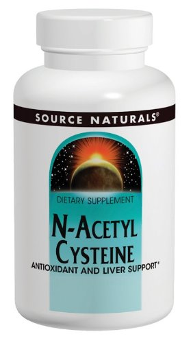 Source Naturals N-Acetyl Cysteine 1000mg, Antioxidant and Liver Support, 120 Tablets