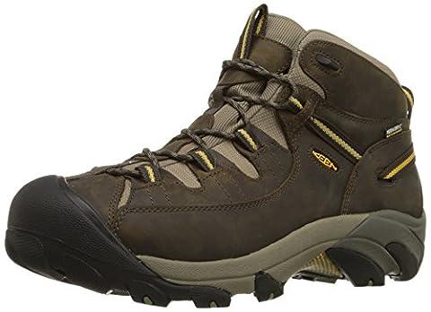 Keen Men Targhee Ii Mid Wp High Rise Hiking Boots, Brown (Black Olive/Yellow), 11 UK 46 EU