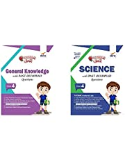 Olympiad Champs General Knowledge Class 4 with Past Olympiad Questions + Olympiad Champs Science Class 4 with Past Olympiad Questions - Set of 2 Books