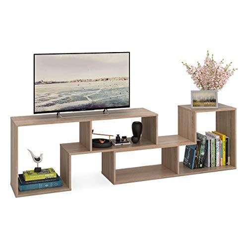 Devaise Meuble TV bibliothèque 2 modules 55,9 à 152,4 cm
