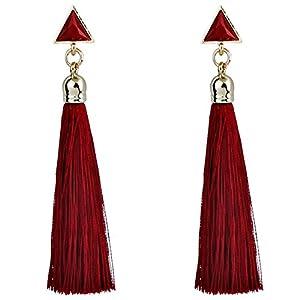 Damen-Ohrringe, modisch, Vintage, Bohemian, hängende Seile mit Quaste, leichte Ohrstecker für Damen