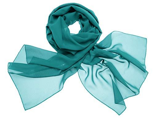 Dresstells Chiffon Schal Stola für Abendkleider in Verschiedenen Farben Dark Green 200cmX75cm/ Large