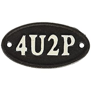 Abbott Collection Small 4U2P Black Cast Iron Sign