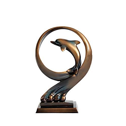 CL-* Handwerk - Nordic Delfine dekorative Heimat multifunktionale Dekoration Moderne minimalistische kreative Harz Handwerk Bedeutung schöne Geschenke [Vier Stile] Hauptdekorationseinrichtungs