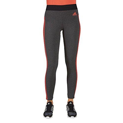 adidas Damen Essentials 3-Streifen Tights, Dgreyh/Reacor, 2XL