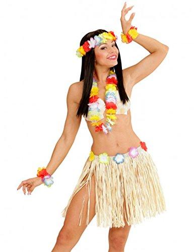 Generique - Hawaï Kostüm-Set für Erwachsene in Rosa Einheitsgröße