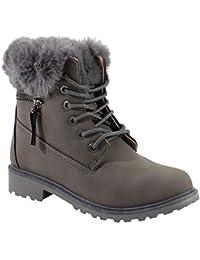 1ca0685578cb Amazon.fr   Rangers - Bottes et bottines   Chaussures femme ...