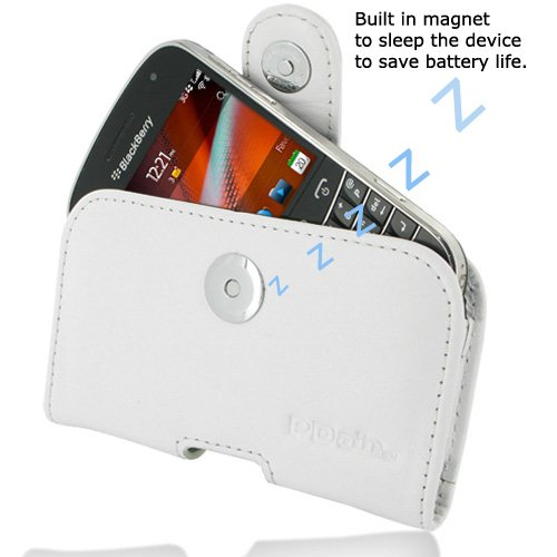 PDair P01 White Leather Case for BlackBerry Bold 9900 / 9930