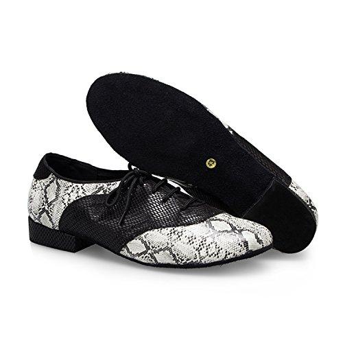 Miyoopark ,  Herren Tanzschuhe Black/White-2.5cm heel