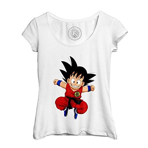 T-shirt Femme Col Rond Echancré Dragon Ball Z anime manga japan son goku sangoku original