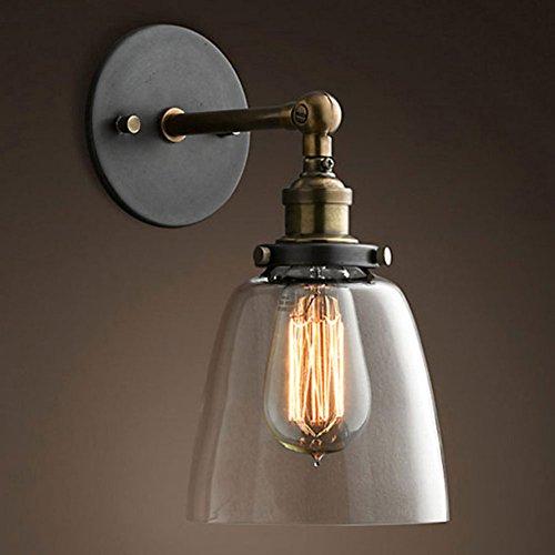 Cozyle Vintage Cobre Industrial pantalla cristal lámpara