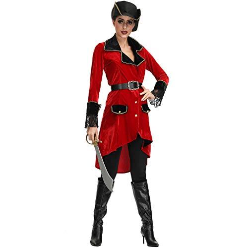 Riou Halloween Kostüm Damen Frauen Piratenkostüm Sexy Dessous Halloween Kleidung Piratenanzug Kostüm Party Cosplay Karneval kostüm Faschingskostüme