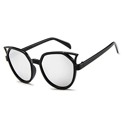 BLDEN Damen Cat Eyes Sunglasses, Übergroße Mode Trend Oversized Sonnenbrille