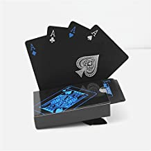 Youxin PVC Waterproof Magic Bicycle Playing Cards Classic Black Poker 54 pieces