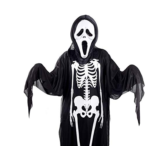 QingTanger Skeleton Geistkostüm Maskerade Kostüm Halloween-Kostüm