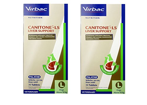 Virbac Canitone-LS Liver Support Large (Packof 2) Total 60 Tablets