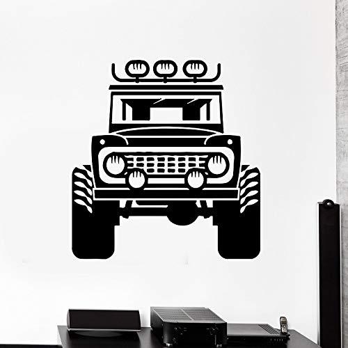 JXLK Decalcomanie da Muro per Auto, SUV, Adesivi da casa per Uomo in Vinile Decorazione Soggiorno Adesivi Decorativi da Parete Moda 57x58 cm