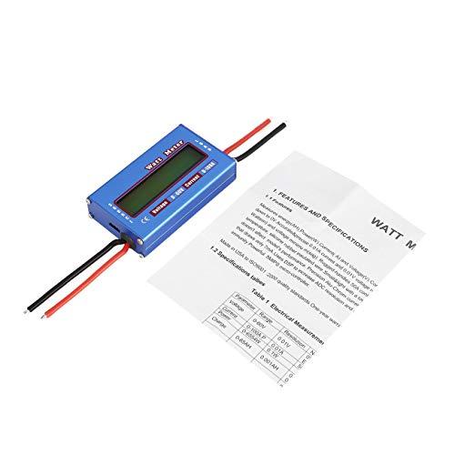 Elviray Digital Balance Spannung Leistung Watt Strom Energiezähler Analysator Tester Checker für RC Drone Batterie 60V 100A Wattmeter (Strom-checker)