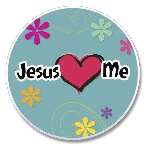 Jesus Loves (Heart) Me Stone Auto Car Coaster (1) by Highland - Car Coaster