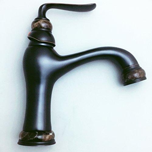 Deck montiert Badezimmer WC Waschbecken Wasserhahn Öl Schutt Bronze Finish Marmor Dekoration