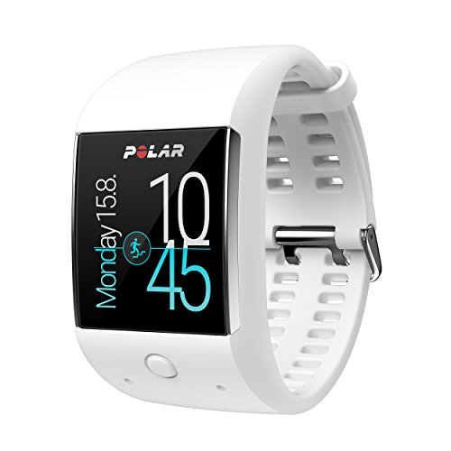 Polar M600 - Smartwatch con GPS integrado y pulsómetro HR en la muñeca, color blanco [Importado, sin manual en castellano]