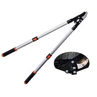 XPKZYSLJ-J Tijera de podar telescópica Extensible de 62 cm a 100 cm, para podar árboles con Menos Esfuerzo