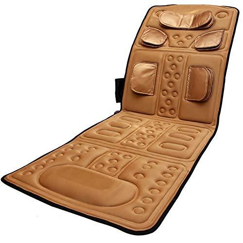 JMung Massagematte elektrisch Vibrationsmatte mit Fernbedienung Airbag-Massage Home-Funktion Ganzkörpermassagegerät Faltbares Massagegerät Ganzkörperentspannung Für ältere Menschen,Gold