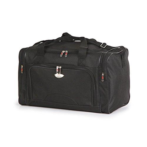Friendz Trendz- Tasche mit Reißverschluss an der Vorderseite Travel Sports Fracht Holdall Duffle Bag (black) black