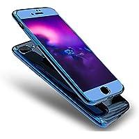 """Für iPhone 8 Plus Schutzhülle 360 Grad, Luxus Glänzend Glitzer Spiegel Handyhülle Mirror Case für iPhone 8 Plus 5.5"""", Uposao Full Cover Vorne Hinten Rundum Doppel-Schutz Komplettschutz Handytasche Ha"""