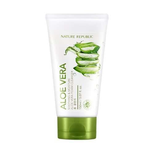 NATURE REPUBLIC Aloe Vera Foam Cleanser - Aloe Vera Cleanser