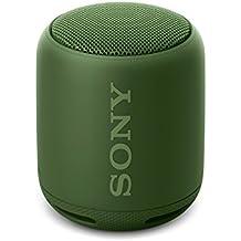 Sony SRS-XB10G - Altavoz inalámbrico portátil (Bluetooth, Extra Bass, NFC, 16h de batería) color verde