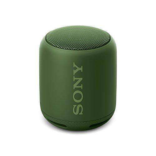 Sony SRS-XB10 Tragbarer, kabelloser Lautsprecher (Bluetooth, NFC, Extra Bass, waaserabweisend, 16 Stunden Akkulaufzeit) grün