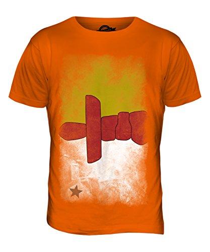 CandyMix Nunavut Verblichen Flagge Herren T Shirt Orange